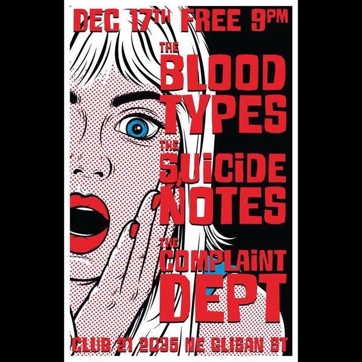 The Suicide Notes Tour Dates