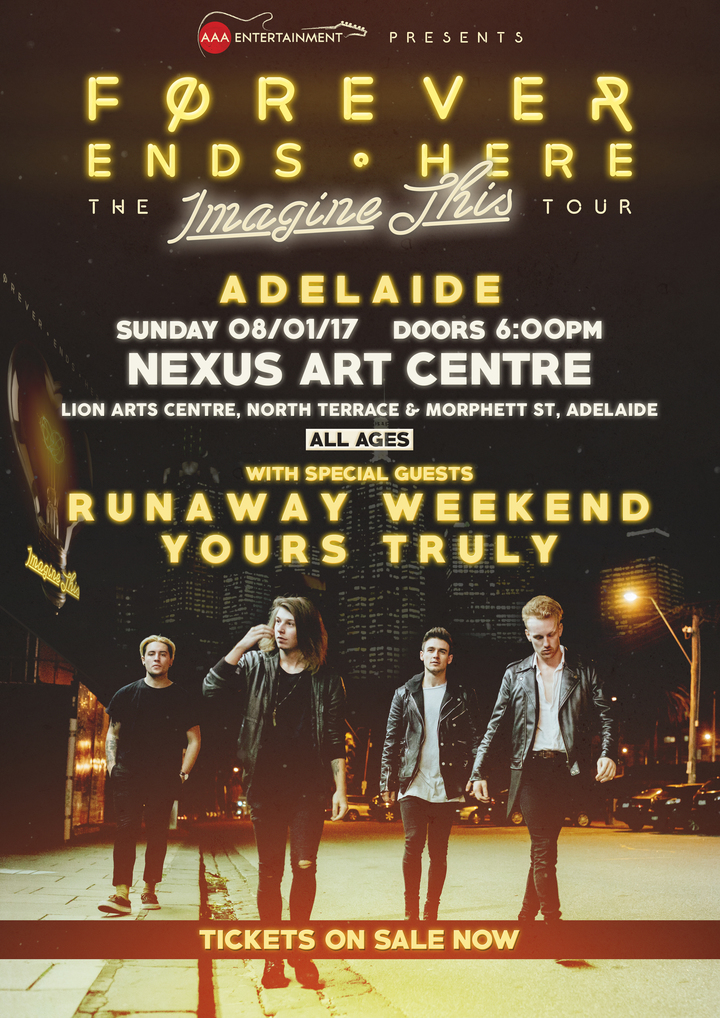 Forever Ends Here @ Nexus Arts Centre - Adelaide, Australia