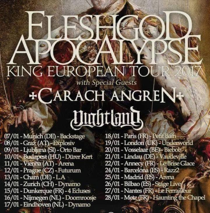 Fleshgod Apocalypse @ Palladium - Worcester, MA