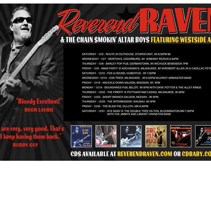 Reverend Raven @ The Dockside Tavern 8pm - Oshkosh, WI
