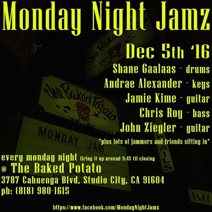 Monday Night Jamz Tour Dates