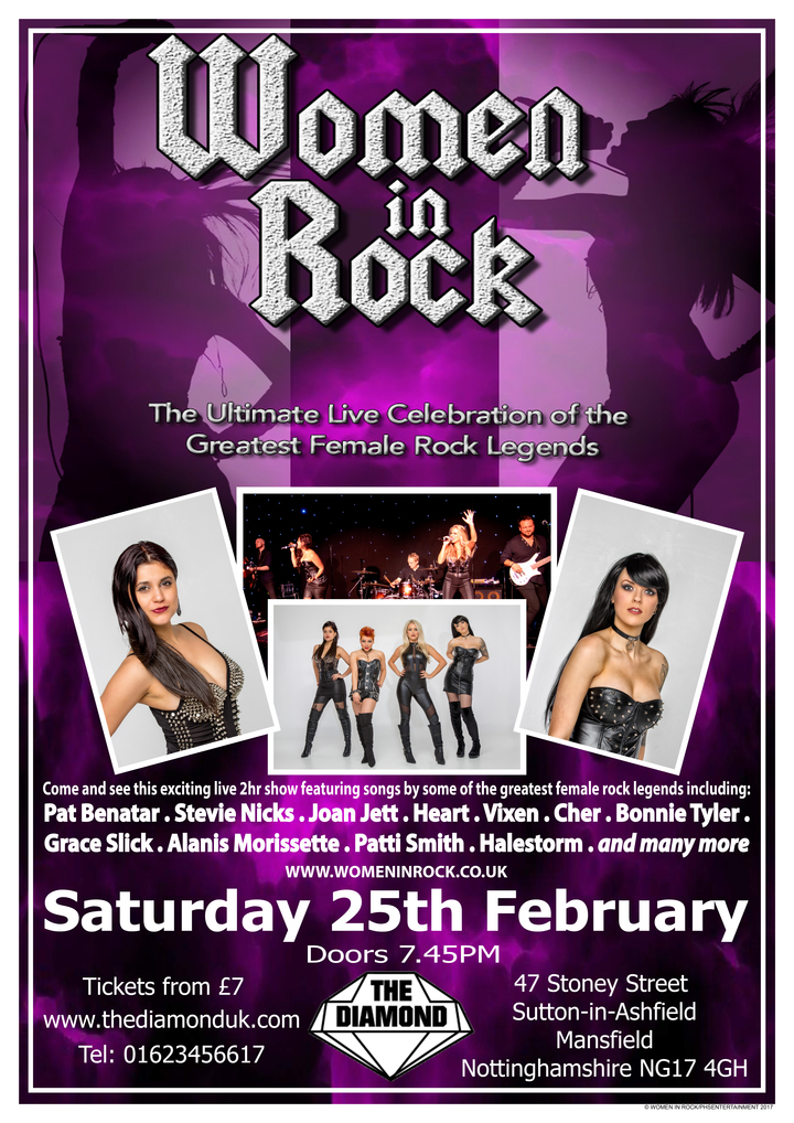 Women In Rock UK @ The Diamond - Sutton In Ashfield, United Kingdom