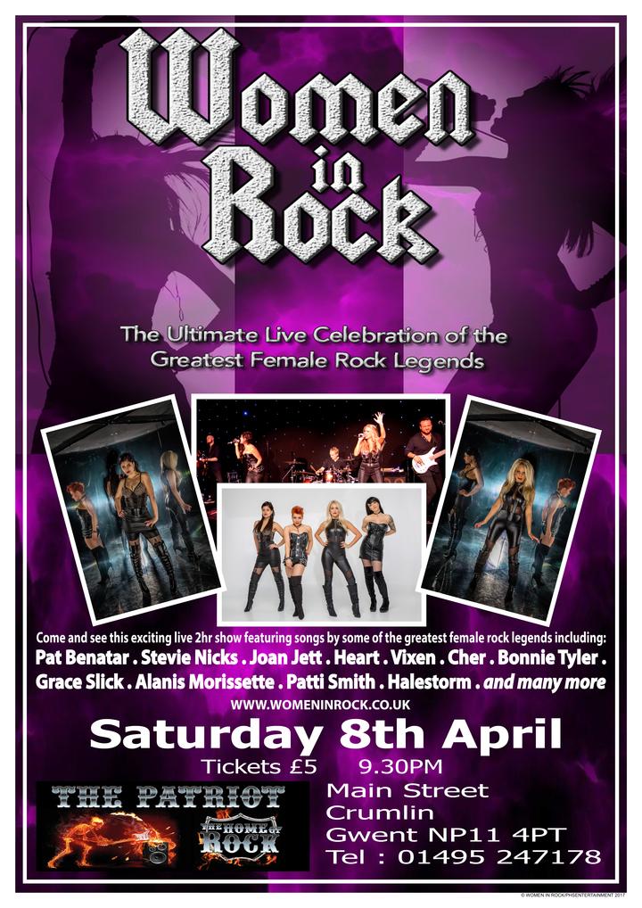 Women In Rock UK @ The Patriot - Newbridge, United Kingdom