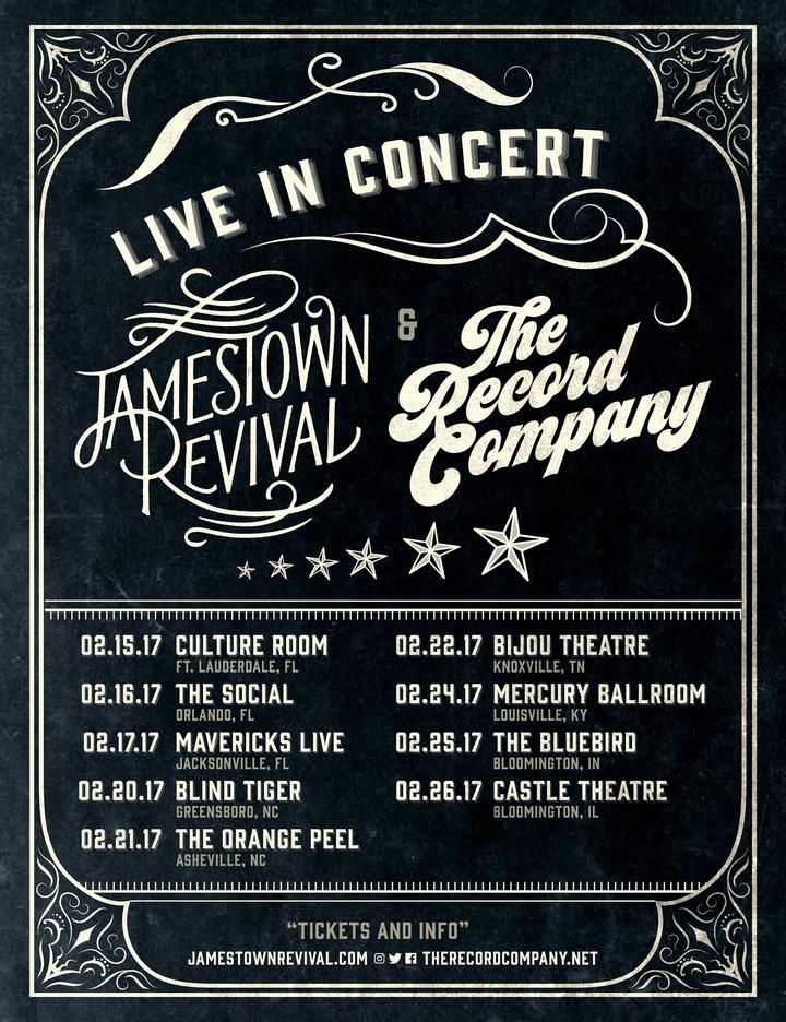 Jamestown Revival @ Bijou Theatre - Knoxville, TN