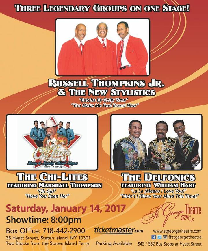 The Delfonics @ St. George Theatre - Staten Island, NY