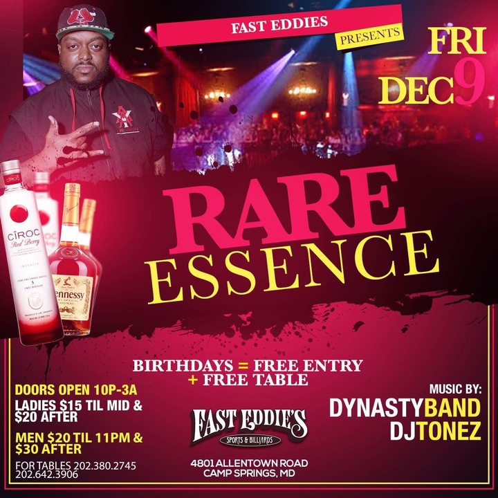 Rare Essence @ Fast Eddies - Camp Springs, MD