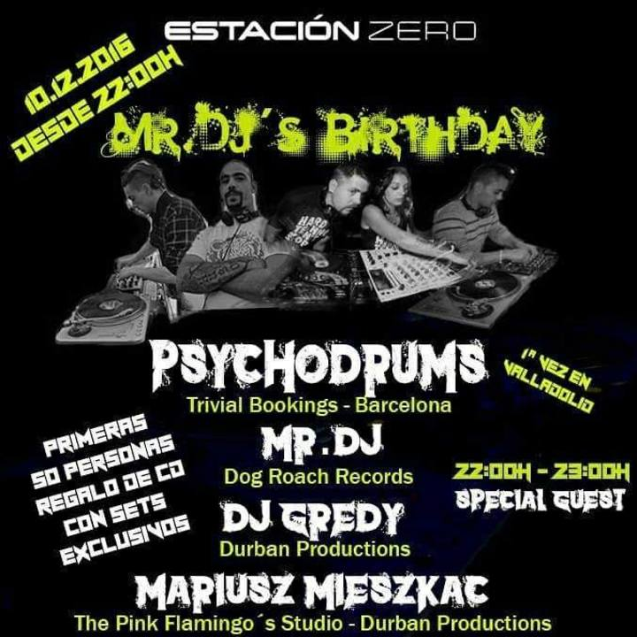 Psychodrums aka Needlax & Miss Pockett Tour Dates