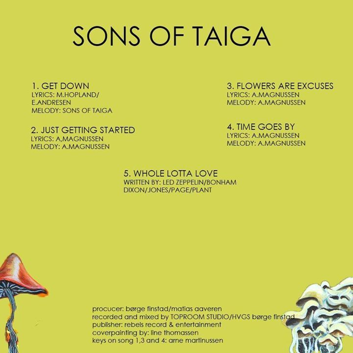 Sons of Taiga Tour Dates