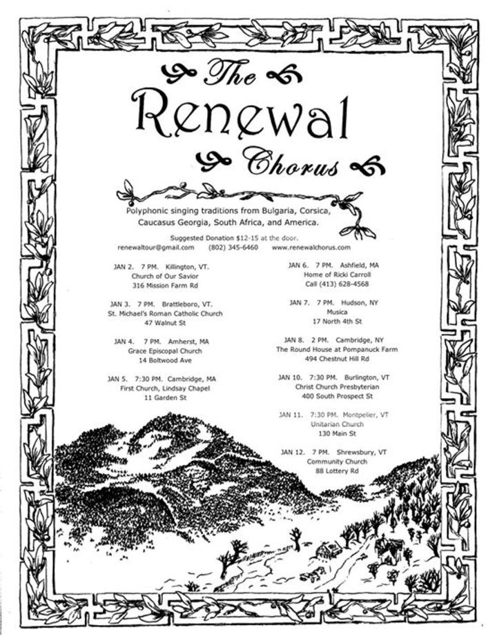 Renewal Tour Dates