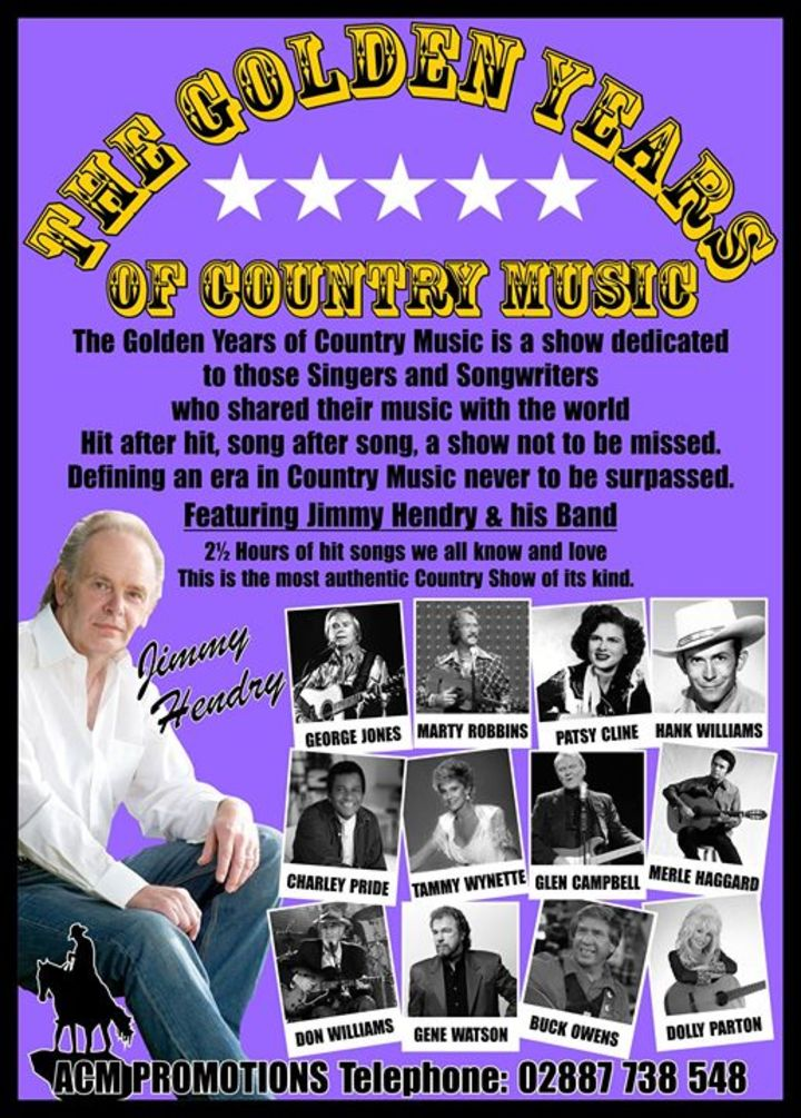 Jimmy Hendry & The Golden Years Of Country Music Show Tour Dates