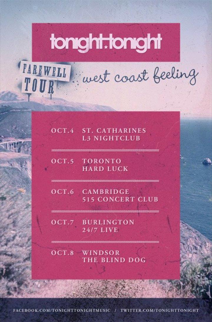Tonight Tonight Tour Dates