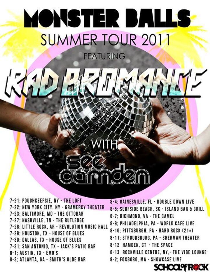 Rad Bromance (All Male Lady Gaga Tribute Band) Tour Dates