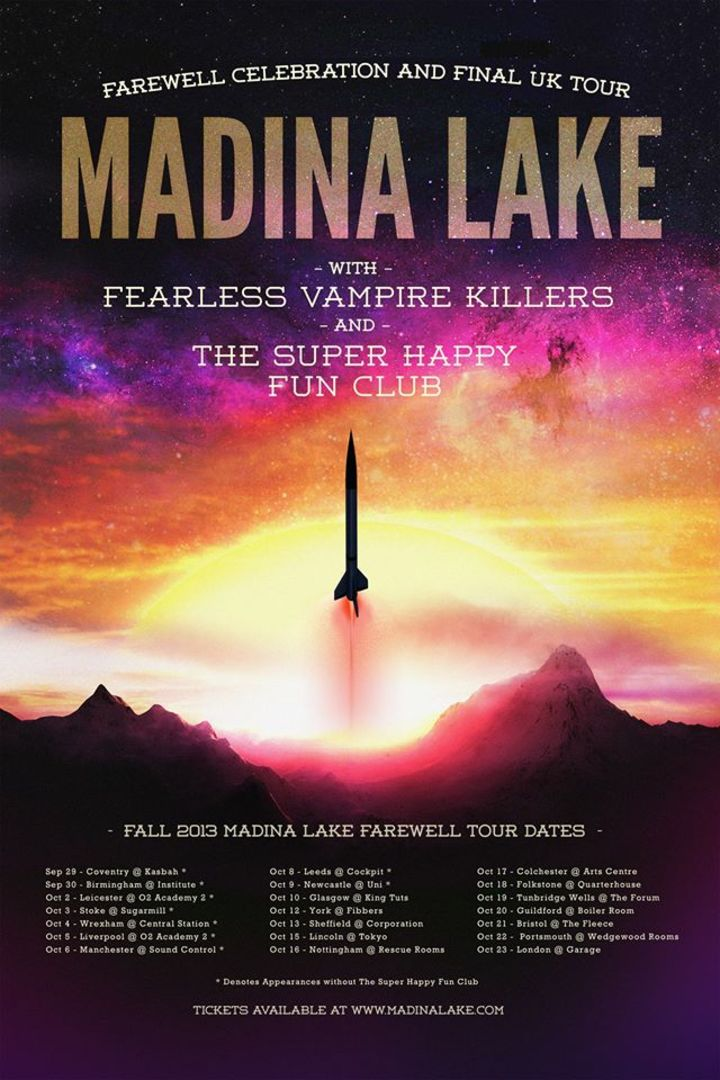 Madina Lake Tour Dates