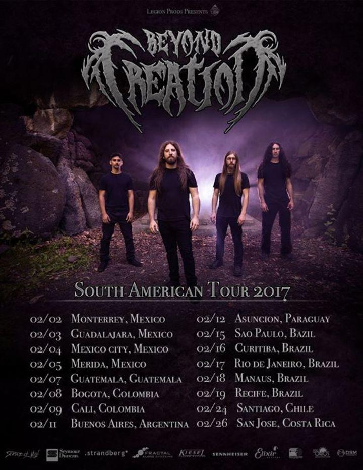 Beyond Creation Tour Dates