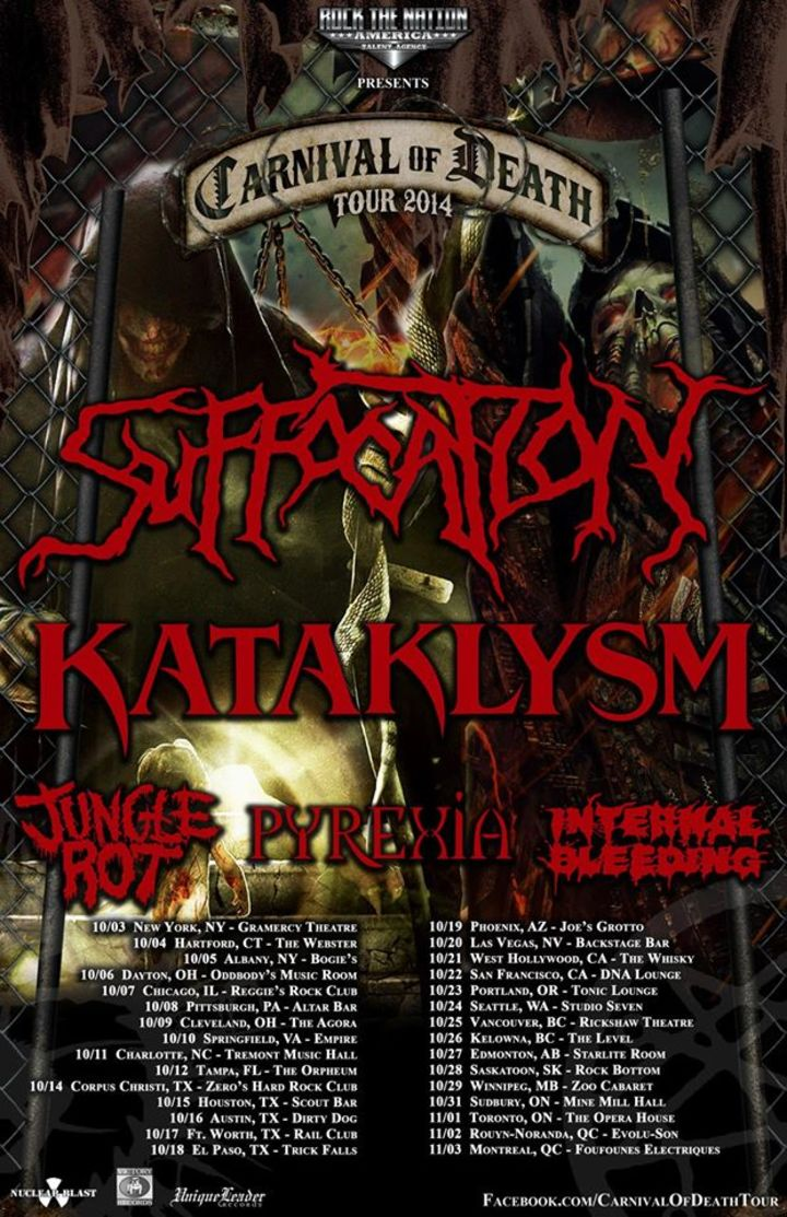 Carnival Of Death Tour Tour Dates