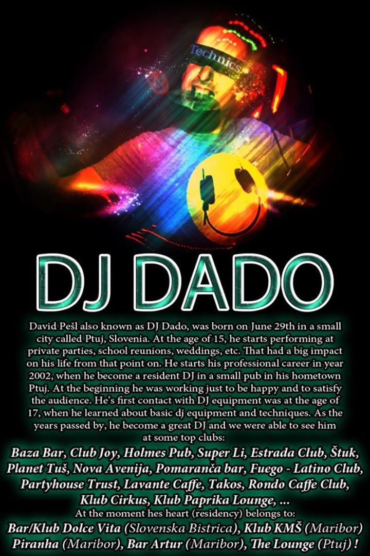 DJ Dado Tour Dates