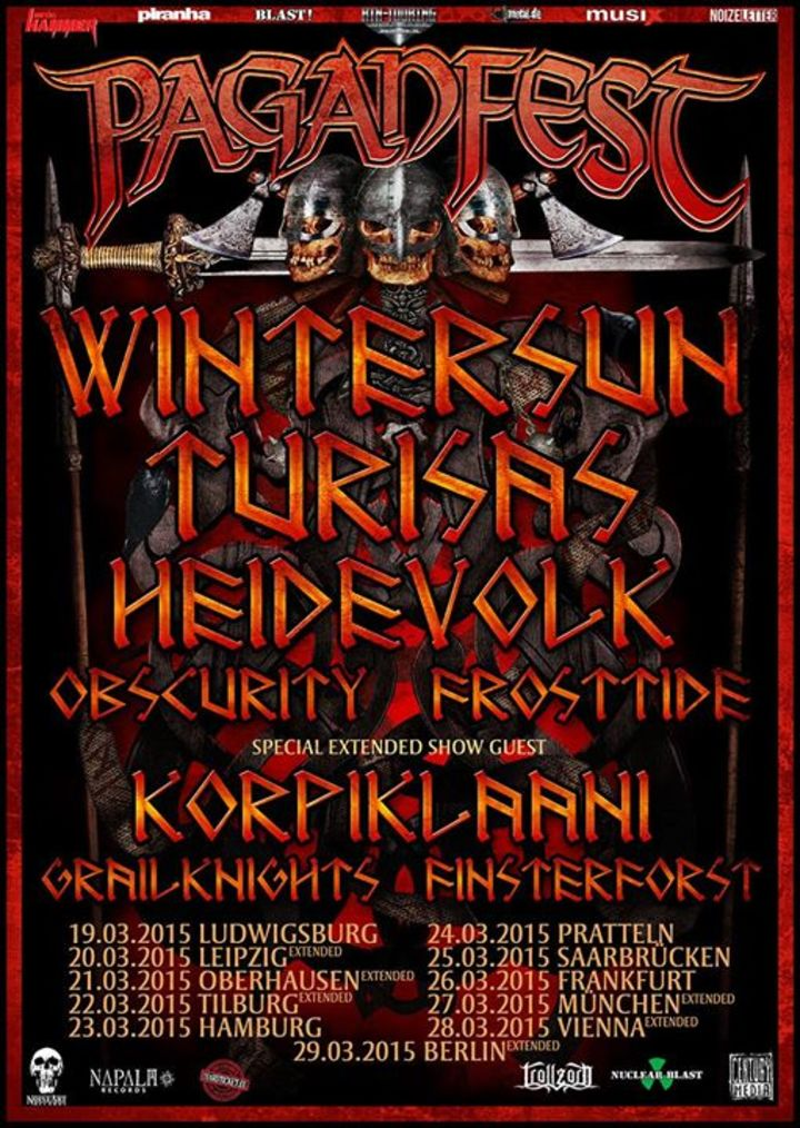 Pagan Fest Tour Dates