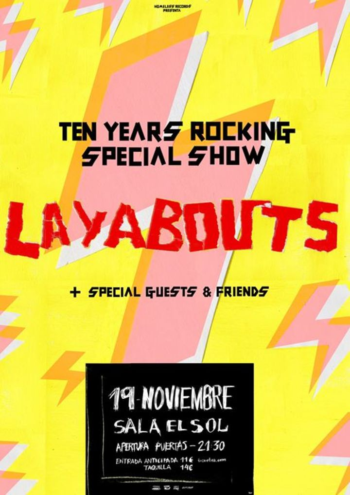 Layabouts Tour Dates