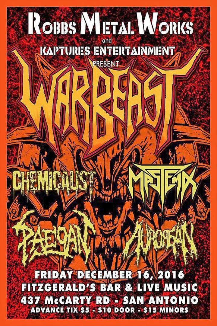 WARBEAST @ Fitzgerald's Bar & Live Music - San Antonio, TX