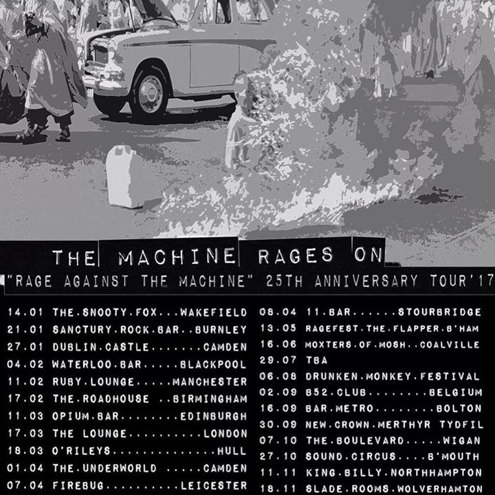 The Machine Rages On Tour Dates