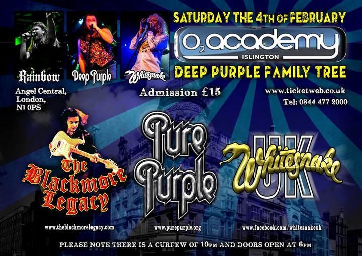 Deep Purple Family Tree @ O2 Academy 2 Islington - London, United Kingdom