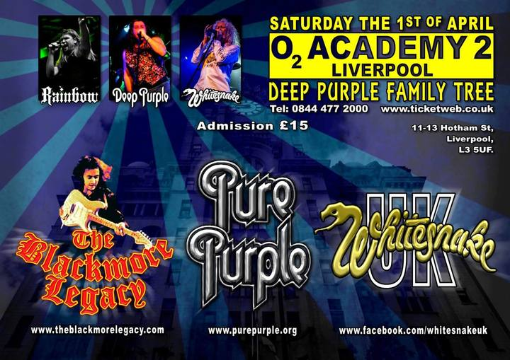 Deep Purple Family Tree @ O2 Academy 2 Liverpool - Liverpool, United Kingdom