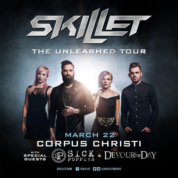 Skillet @ Concrete Street Amphitheater - Corpus Christi, TX