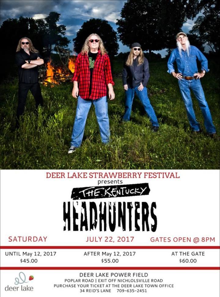 The Kentucky Headhunters @ Deer Lake Power Field - Deer Lake, Canada