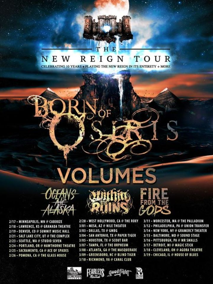 Born of Osiris @ Brooklyn Bowl Las Vegas - Las Vegas, NV