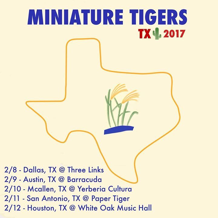 Miniature Tigers Tour Dates