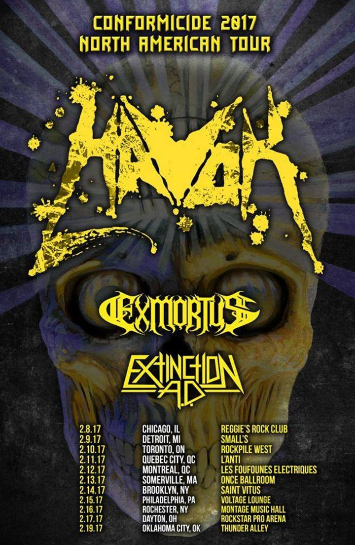 Exmortus Tour Dates