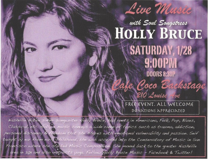 Holly Bruce Music Tour Dates