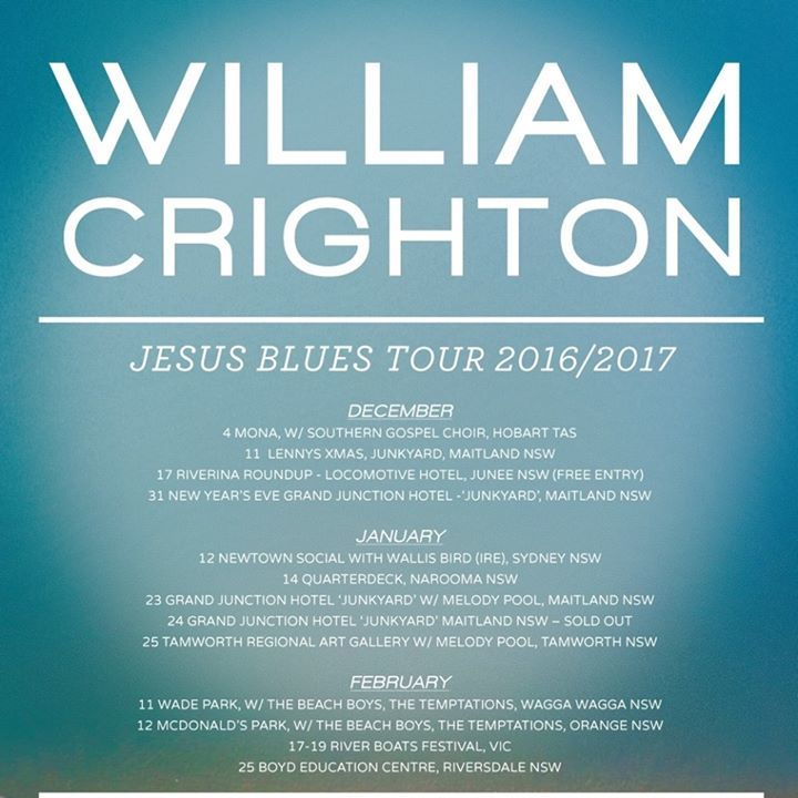 William Crighton Tour Dates