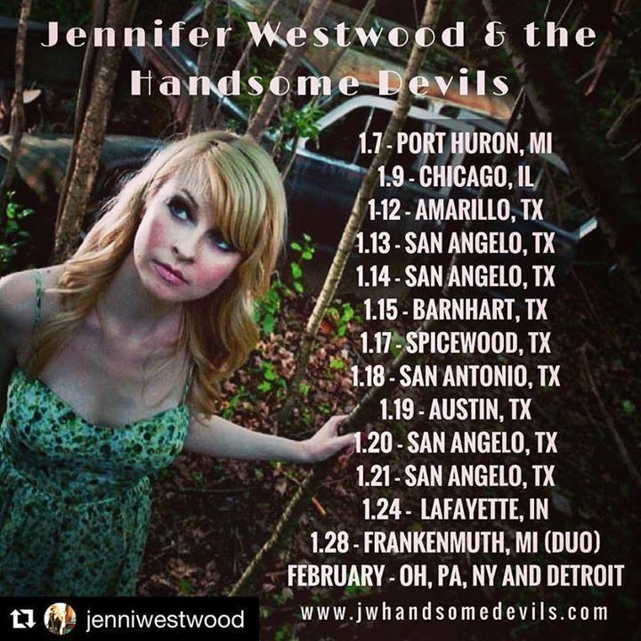 Jennifer Westwood And The Handsome Devils Tour Dates