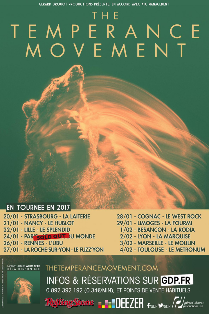 The Temperance Movement @ LE HUBLOT - Nancy, France