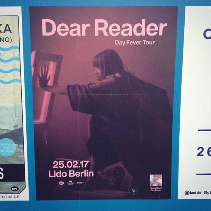 Dear Reader Tour Dates