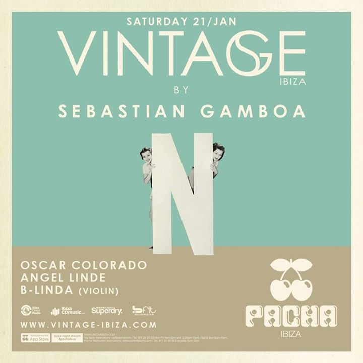 Sebastian Gamboa @ VINTAGE @ Pacha - Ibiza, Spain