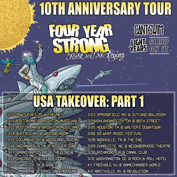 SLEEP ON IT Tour Dates