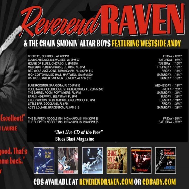 Reverend Raven @ Club Girabaldi 9pm - Milwaukee, WI