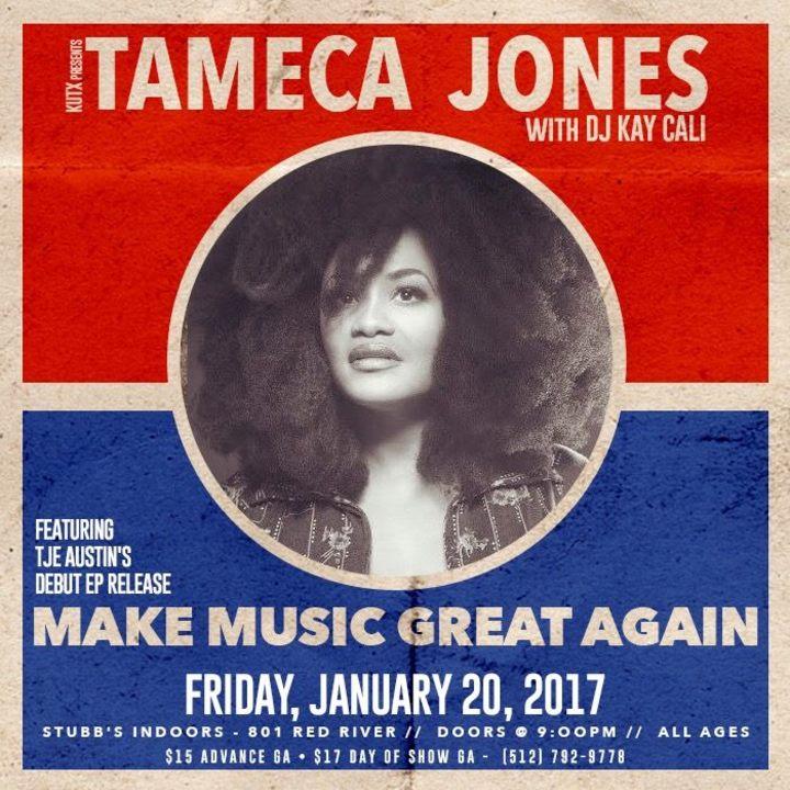 Tameca Jones Tour Dates