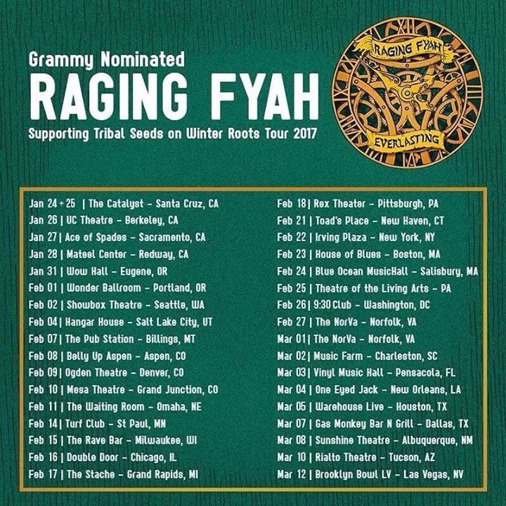 Raging Fyah @ One Eyed Jack - New Orleans, LA