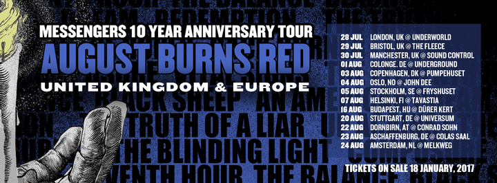August Burns Red @ Dornbirn Conrad Sohm - Dornbirn, Austria