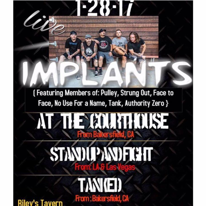 Implants Tour Dates