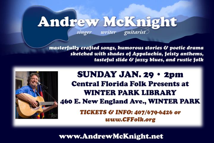 Andrew McKnight @ Winter Park Library - Winter Park, FL