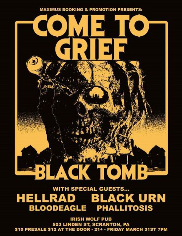 Come to Grief Tour Dates
