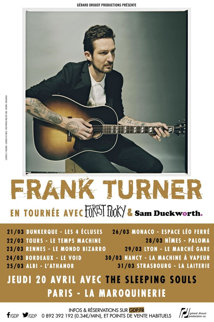 Frank Turner @ Espace Léo Ferré - Monaco, Monaco
