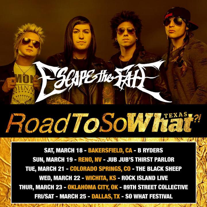 Escape the Fate @ Rock Island Live - Wichita, KS