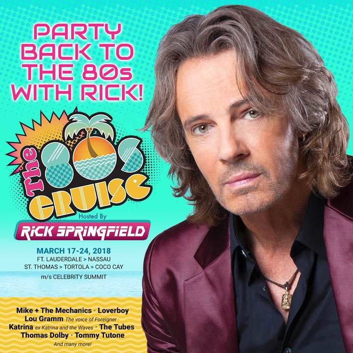 Rick Springfield @ The 80s Cruise - Fort Lauderdale, FL