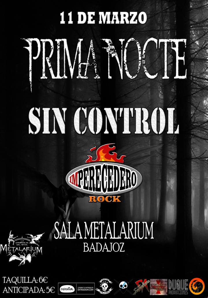 Prima Nocte @ Sala Metalarium - Badajoz, Spain