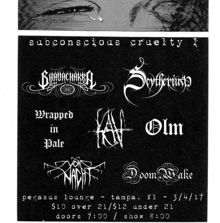 Scytherium Tour Dates